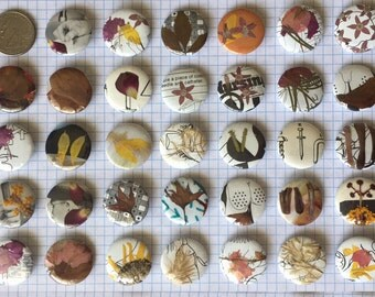 Hand Pressed Flower Buttons (pack of 5)