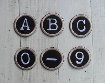 """Iron on letters Letters patch Alphabet patch Iron on letters custom  Iron On Patch choose size - 1"""" / 2"""""""