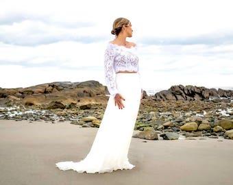 Wedding Silk Skirt, Silk Maxi Skirt, Bridal Skirt, Wedding Separates, White Bridal Skirt, Bridal Separates, Ivory Maxi Skirt