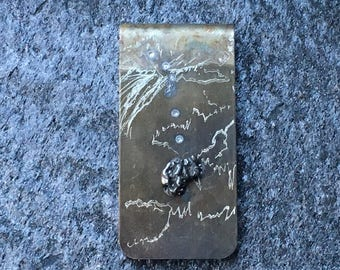 Meteorite Money Clip | science money clips | gift for boss man  | cool guys gift idea | cool guy gifts | gift for bosses day | guys gifts