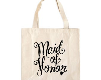 Maid of Honor Tote Bag - Maid of Honor Bag - Maid of Honor Tote