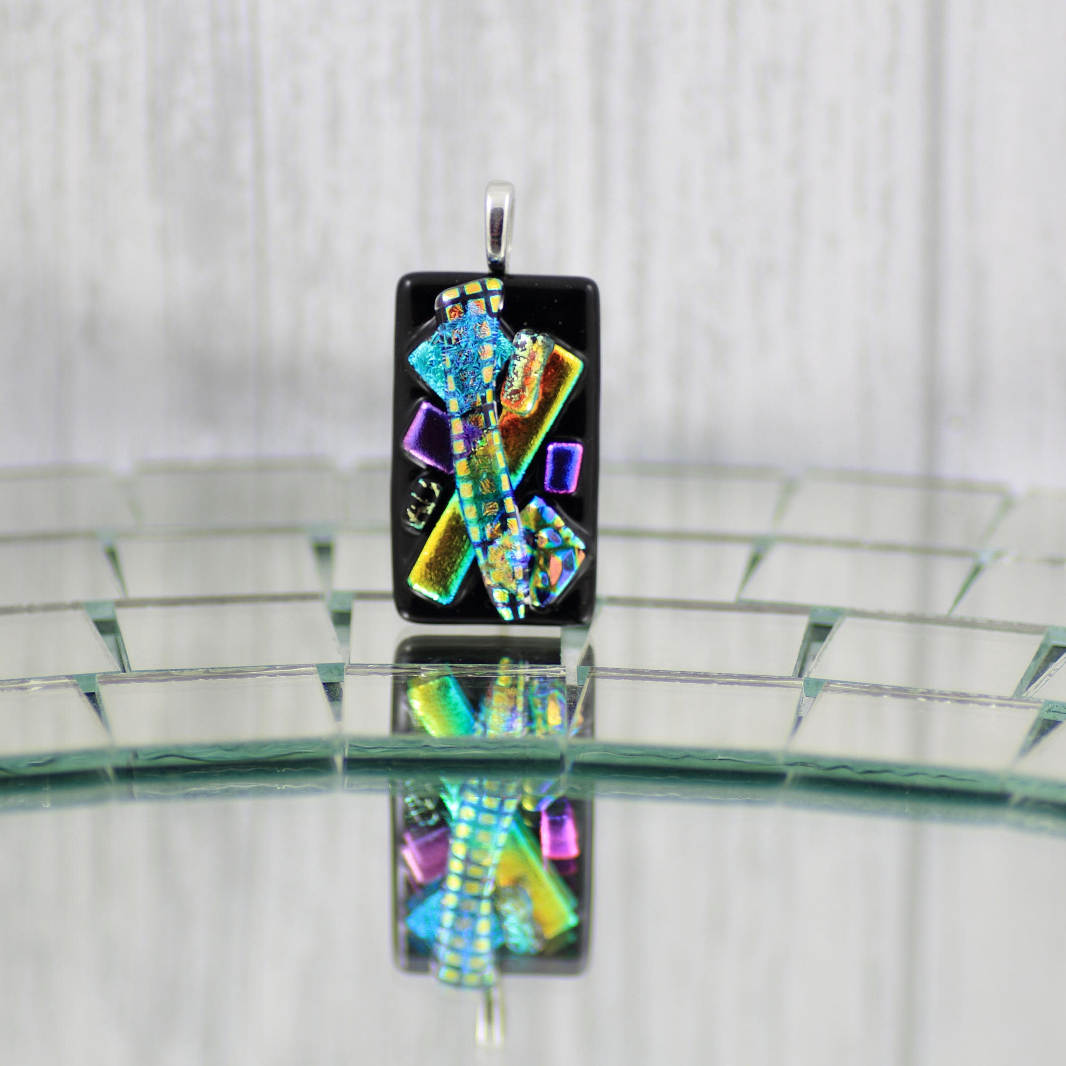 pendant custom by laser dichroic hand etched creations fused glass in pendants made