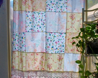 Patchwork Window Curtain Boho Curtain