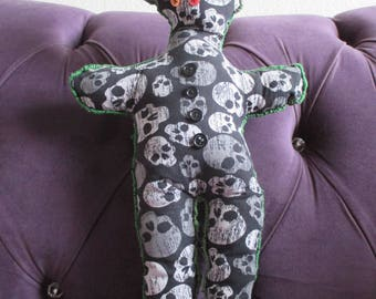 Halloween Voodoo Skull Doll Pillow Decor