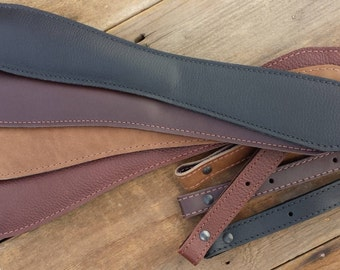 Leather Rifle Sling - Solid Colors choice of Black, Rich Mahogany, Grained Walnut and Coffee Bean