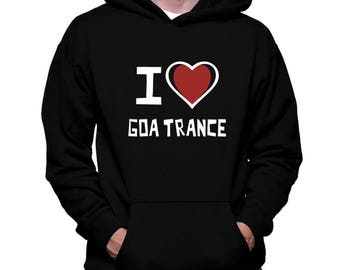 I Love Goa Trance Hoodie