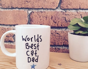 Funny mug, cat dad, from the cat, happy fathers day, Birthday gift, Mug for christmas,gift for him, cup, cat lover