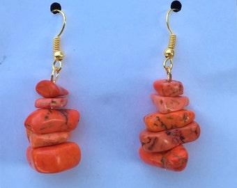 Orange Rock Stones