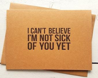 Funny Birthday Card - Funny Valentine Card - Valentines Day Card - Funny Love Card - Husband Card - Boyfriend Card - Funny Anniversary Card