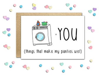 Adult Valentine Card, Dirty Valentine Card, Naughty Valentine's, Naughty Cards, Funny Valentine Card, Sexy Valentine Cards