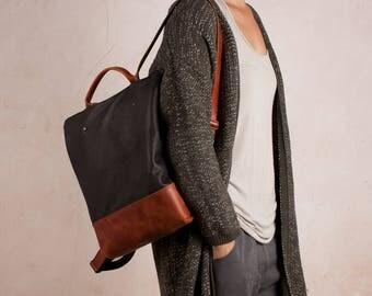 Leather backpack women, backpack purse, backpacks leather, zipper backpack, backpack bag, safe backpack, travelling bag, brown safe backpack
