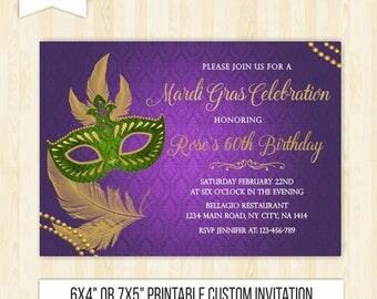 Mardi gras invitation masquerade invitation mardi gras party invite printable birthday masquerade mardi gras birthday new orleans invite 242