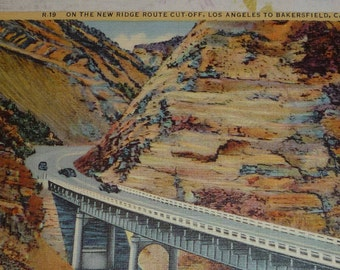 New Ridge Route Cut-Off, Los Angeles to Bakersfield, California