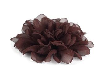 Brown Dog Collar Flower, Brown Collar Flower Attachment, Brown Collar Flower Add On, Brown Collar Flower Accessory, Dog Collar Flower