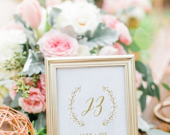 Gold Wedding Table Number, Table Number Cards, Printable Wedding Table Numbers, Table Numbers Gold, Rustic Wedding Table Numbers, Rustic