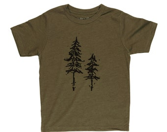 Pine Trees Tri-Blend Boys Tee