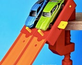 2-Lane Start Gate w/Clamp - (Compatible with Hot Wheels Race Track & Cars)