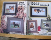 Dogs Collection 7 Cross Stitch Patterns / Stephanie Seabrook Hedgepath / Rottweiler cross stitch / Pegasus Publication