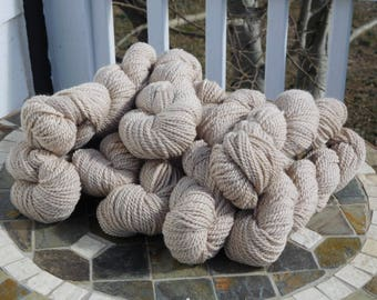 Bulky Alpaca Yarn - Beige/Light Fawn