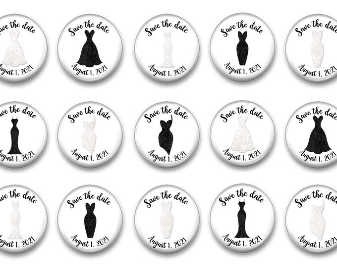 Wedding Magnets - Save the Date - Bridal Shower Favor - Bride and Groom - Invitation - Photo Magnets - Custom - Wholesale - Black and White