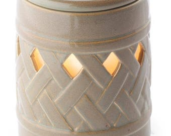 Ceramic Illumination Tart Warmer - Lattice - Valentines Day Gift
