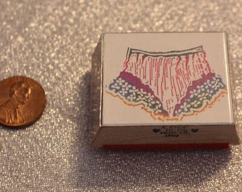 Frilly Underwear rubber Stamp Wood by A Stamp in the Hand Stamp for Scrap booking or Card Making Altered Art Panties