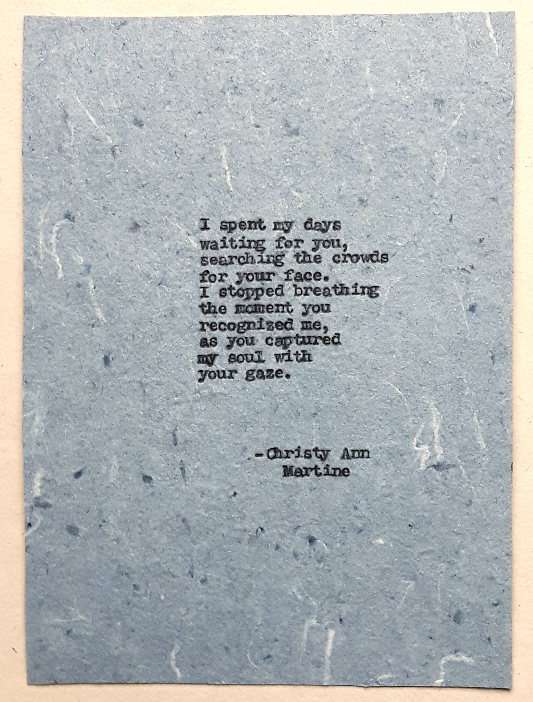 Romantic gift for boyfriend or girlfriend love poem
