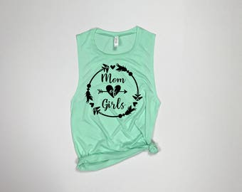 Mom of girls, Mom shirt, Mom life, Mom of the wild one, mom of girls tee, mom of girls tank, girl mama, blessed mama, mother of girls
