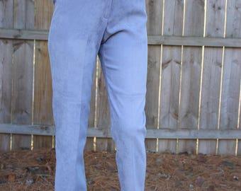 Vintage 80s 1980s Norton Studio Periwinkle High Waist Straight Leg Pants Size 4p