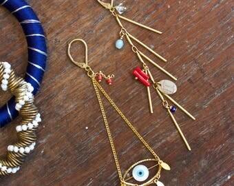 Eye See You - Gold filled Stud Earrings