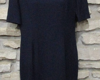 Bellville Sassoon Lorcan Mullany Women's Black Wool Sheath Dress. Size UK14 US10. Full Acetate Lined, Made in England.