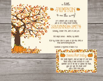 Pumpkin Baby Shower Invitation Boy Fall Baby Shower