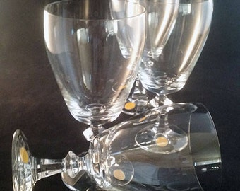 Crystal Water/Iced Tea Stemware Made in West Germany  S/4