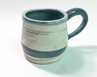 Handmade Teal Swirled Mug