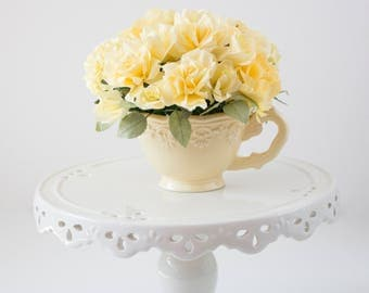A cup of paper flowers