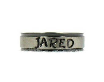 Name Ring, Stainless Ring, Stainless Steel Ring, Wedding Ring, Personalized Ring, Custom Name Ring, Hand Stamped Ring, Hand Stamped