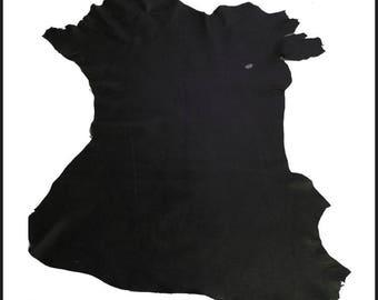 C 252-P // Goat skin aged leather NATURAL GRAIN Dark brown - XL