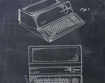 Patent Print of an Apple Computer, Patent Art Print, Apple Computer Patent Poster, Apple Computer Art