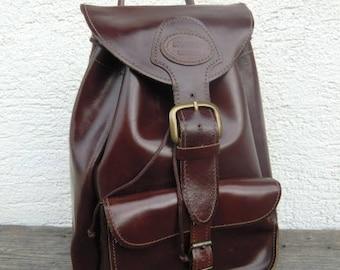 Brasão leather backpack red bordeaux vintage Brown