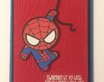 Disney Marvel Spider Man birthday greeting card