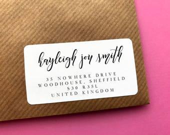 Return Address Label, Pretty Address Sticker, Personalised Return Address Label, Save The Date Address, Family Address Label, Wedding Labels