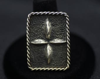 Fine Silver (.999 pure) High Relief Repoussé Statement Ring US Size 7.5