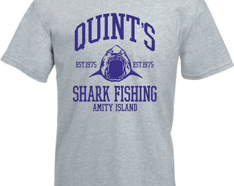 Quint's Shark Fishing T-Shirt - Inspired By Jaws, Various Colours