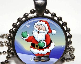 Santa Pendant. Santa Necklace. Christmas Pendant. Christmas Necklace. Christmas Jewelry. Xmas Gift. Fairy Tale Necklace for family.