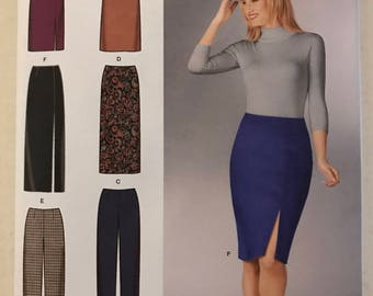 Simplicity 1559 - Easy to Sew Close Fitting Skirt in Knee, Midi, or Maxi Length and Pants with Cropped Option - Size 8 10 12 14