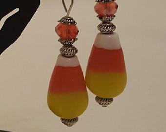Candy Corn Earrings, Free Shipping