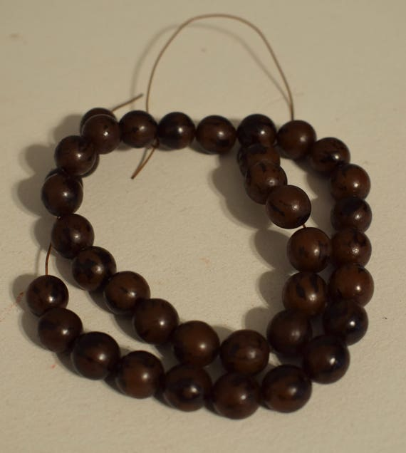Beads Philippines Buri Nut Round Jewelry Necklace Earrings Buri Nut Beads