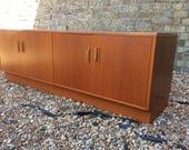 Mid century 1960s Gplan egomme teak sideboard double cupboard teak furniture gplan double cupboard long low sideboard Gplan unit