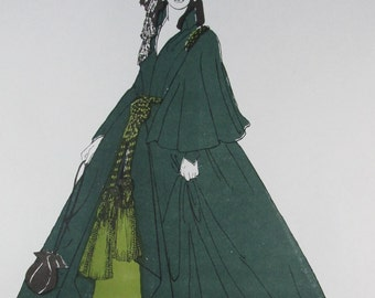 Dress Patterns From Historie, The Green Velveteen Dress, Sizes: 10-12-14-16-18-20, Vintage 1987, Sealed