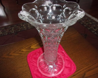 Lead Crystal Glass Vase Antique Lead Crystal Cut Glass Vase